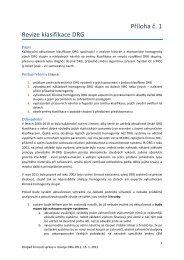 Příloha č.1 - Revize klasifikace DRG
