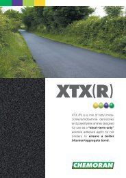 XTX (R) is a mix of fatty imida- zoline/amidoamine ... - Chemoran