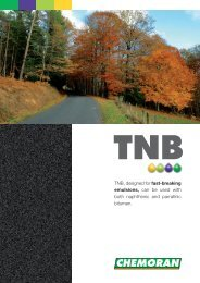 TNB, designed for fast-breaking emulsions, can be ... - Chemoran