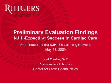 8040 - Center for State Health Policy, Rutgers University