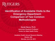 8510 - Center for State Health Policy, Rutgers University