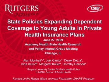 Download Publication - Center for State Health Policy