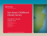 New Jersey Childhood Obesity Survey - Center for State Health Policy