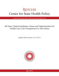 Payer Claims Databases: Issues and Opportunities for Health Care ...