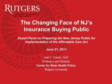 8900 - Center for State Health Policy, Rutgers University