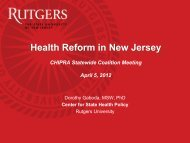 9250 - Center for State Health Policy, Rutgers University