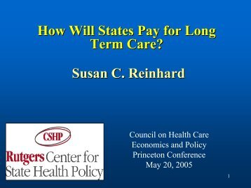 5290 - Center for State Health Policy, Rutgers University