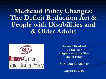 6470 - Center for State Health Policy, Rutgers University