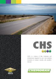 CHS is a mixture of fatty imidazoles and amidoamines ... - Chemoran
