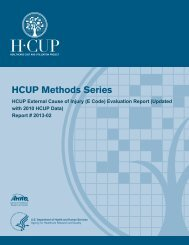 HCUP E Code Evaluation Report - Agency for Healthcare Research ...