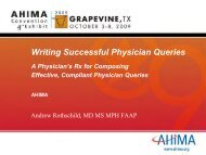Writing Successful Physician Queries - South Carolina Health ...