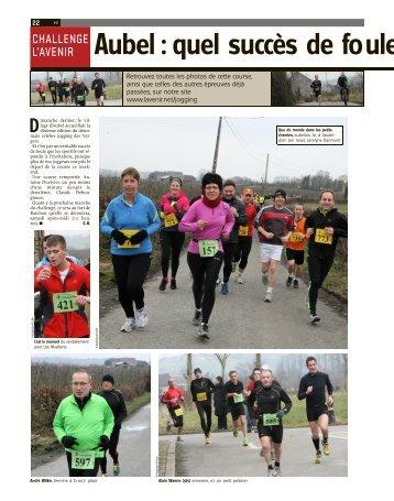Aubel : quel succès de foule au jogging - Challenge L'Avenir - Verviers