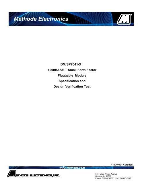 DM7041 Methode RJ45 Connector 10//100//1000BASE-T SFP Transceiver