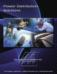 Bus Bars & Capabilities Brochure - Methode Electronics, Inc.