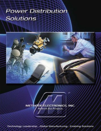 Bus Bars & Capabilities Brochure - Methode Electronics, Inc.