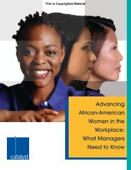 Advancing African-American Women in the Workplace ... - Catalyst