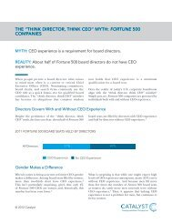 """the """"think director, think ceo"""" myth: fortune 500 companies - Catalyst"""
