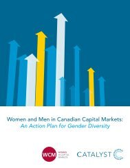 Women and Men in Canadian Capital Markets: An Action Plan for ...