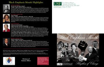 Black Emphasis Month Highlights - Office of Multicultural Affairs