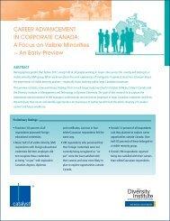Career advanCement in Corporate Canada - Ryerson University