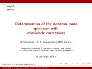 Determination of the odderon mass spectrum with relativistic ... - JINR