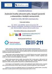 Zvyšování kvality zdravotní péče, bezpečí pacientů a ekonomika v ...