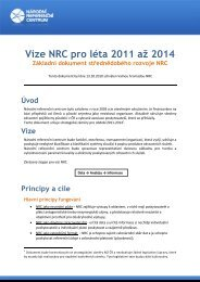 Vize NRC pro léta 2011 až 2014 - Národní referenční centrum