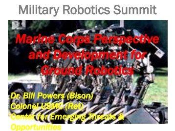 USMC Military Robotics Summit - Defense Innovation Marketplace