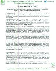instituto Nacional ¡de Conservación y Desarrollo Forestal, - ICF