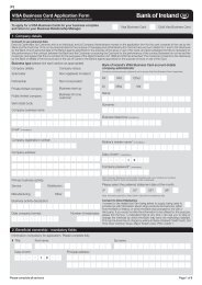 VISA Business Card Application Form - Business Banking - Bank of ...