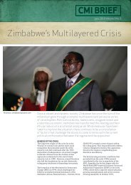 CMI Brief: Zimbabwe's multi-layered crisis - Solidarity Peace Trust