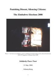 Punishing Dissent, Silencing Citizens: The Zimbabwe Elections 2008