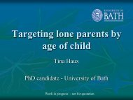 Activating lone parents based on the child's age - Sociology and ...