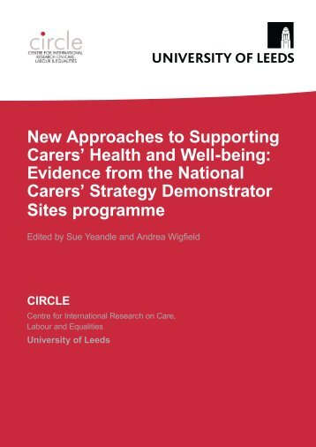 New Approaches to Supporting Carers' Health and Well-being ...