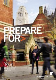 Prepare for - Sociology and Social Policy - University of Leeds