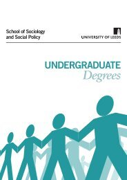 Degrees - Sociology and Social Policy - University of Leeds