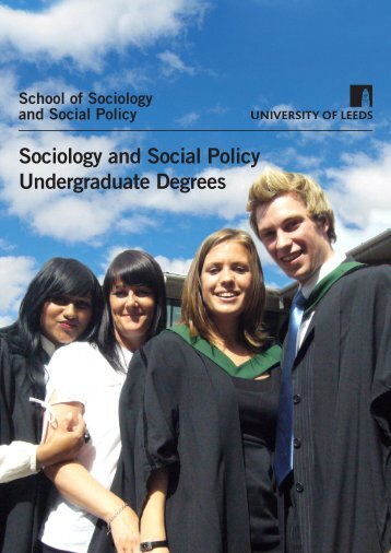 Sociology and Social Policy Undergraduate Degrees