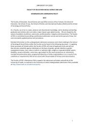 APPENDIX 1: Template - Sociology and Social Policy - University of ...