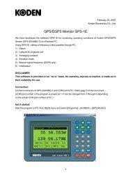KGC-1 GPS Compass Monitor KGC-1E - Seatech