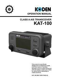 operation manual class a ais transceiver kat-100 - Seatech