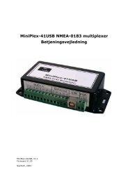 MiniPlex-41USB NMEA-0183 multiplexer ... - Seatech