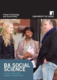 Download the BA Social Science brochure - Sociology and Social ...