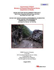 Review and Update of Initial Environmental Examination Report