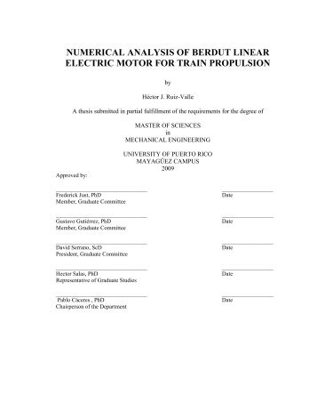 numerical analysis of berdut linear electric motor for train propulsion