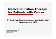 Medical Nutrition Therapy for Patients with Cancer