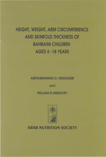 height, weight, arm circumference and skinfold thickness of bahraini ...