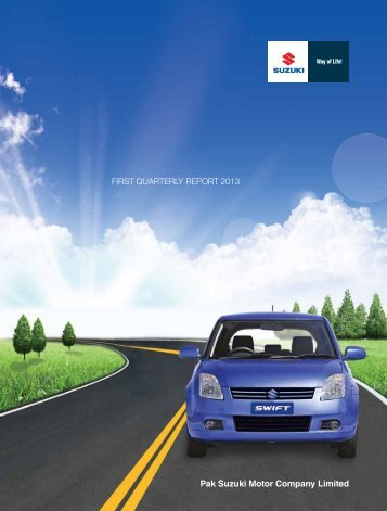 FIRST QUARTERLY REPORT 2013 - Pak Suzuki Motor Co. Ltd.