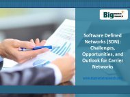 Software Defined Networks (SDN) Market Challenges, Opportunities to 2019
