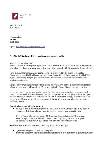 inge.jakob.risjord@norconsult.com City Nord (CN ... - itslearning