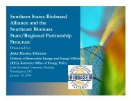 SERBEP Structure - Northeast Regional Biomass Program